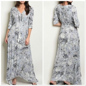 Dresses & Skirts - BEST SELLING ❣️BLUE BOHO MAXI DRESS
